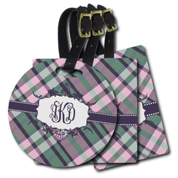 Plaid with Pop Plastic Luggage Tags (Personalized)