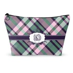 Plaid with Pop Makeup Bags (Personalized)