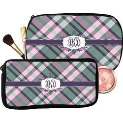 Plaid with Pop Makeup / Cosmetic Bag (Personalized)