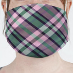 Plaid with Pop Face Mask Cover (Personalized)