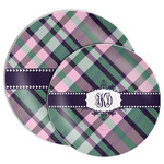 Plaid with Pop Melamine Plate (Personalized)