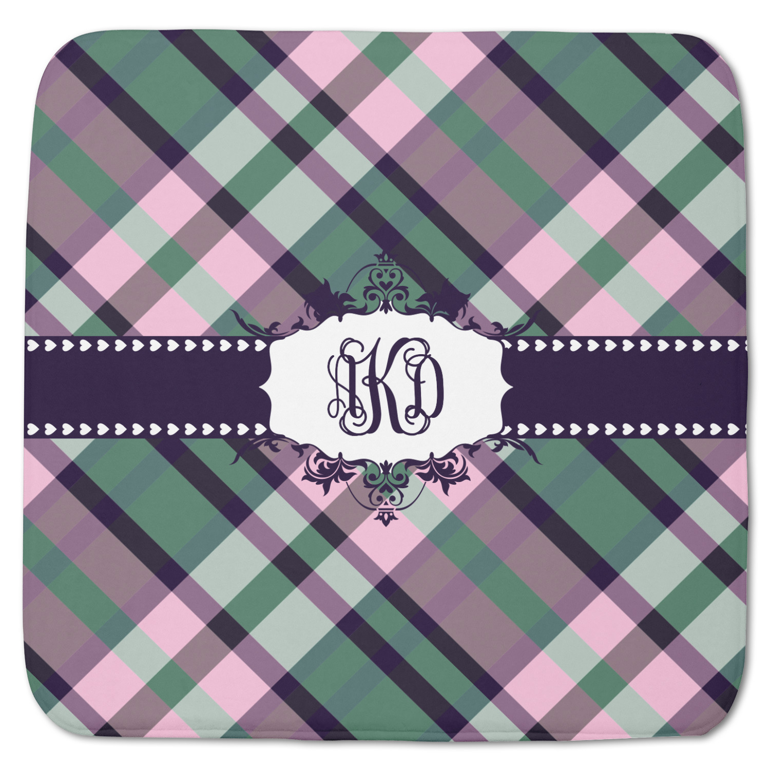 Plaid With Pop Memory Foam Bath Mat Personalized