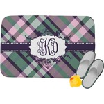 Plaid with Pop Memory Foam Bath Mat (Personalized)