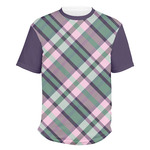 Plaid with Pop Men's Crew T-Shirt (Personalized)