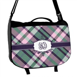 Plaid with Pop Messenger Bag (Personalized)