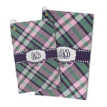 Plaid with Pop Microfiber Golf Towel (Personalized)