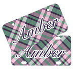 Plaid with Pop Mini/Bicycle License Plates (Personalized)