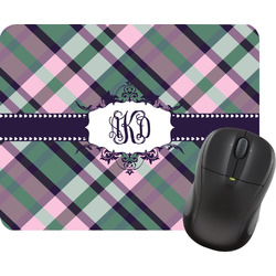 Plaid with Pop Rectangular Mouse Pad (Personalized)