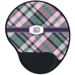 Plaid with Pop Mouse Pad with Wrist Support