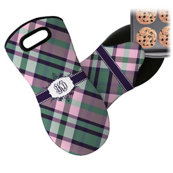 Plaid with Pop Neoprene Oven Mitt (Personalized)