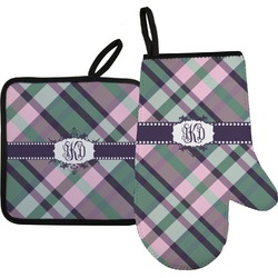 Plaid with Pop Oven Mitt & Pot Holder (Personalized)