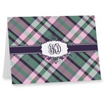 Plaid with Pop Note cards (Personalized)