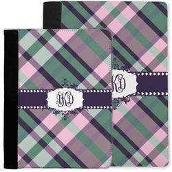 Plaid with Pop Notebook Padfolio w/ Monogram