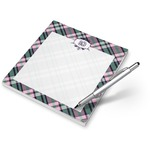 Plaid with Pop Notepad (Personalized)