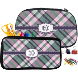 Plaid with Pop Pencil / School Supplies Bag (Personalized)