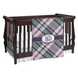 Plaid with Pop Baby Blanket (Personalized)