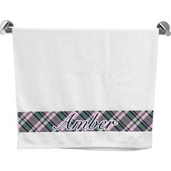 Plaid with Pop Bath Towel (Personalized)