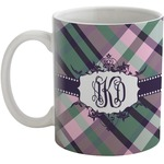 Plaid with Pop Coffee Mug (Personalized)