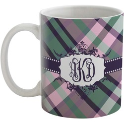 Plaid with Pop Coffee Mug (Personalized)