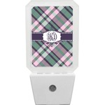 Plaid with Pop Night Light (Personalized)