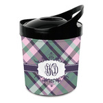 Plaid with Pop Plastic Ice Bucket (Personalized)