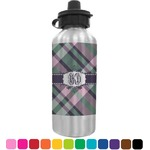 Plaid with Pop Water Bottle (Personalized)