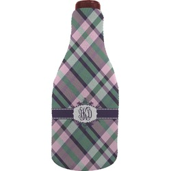 Plaid with Pop Wine Sleeve (Personalized)