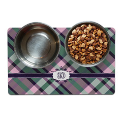 Plaid with Pop Pet Bowl Mat (Personalized)
