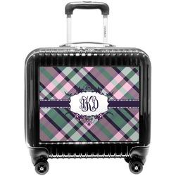 Plaid with Pop Pilot / Flight Suitcase (Personalized)