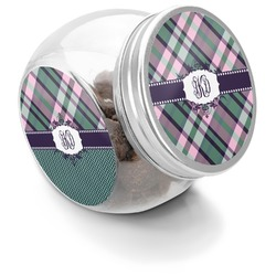 Plaid with Pop Puppy Treat Jar (Personalized)