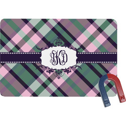 Plaid with Pop Rectangular Fridge Magnet (Personalized)