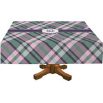 Plaid with Pop Tablecloth (Personalized)