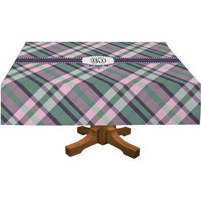 """Plaid with Pop Tablecloth - 58""""x102"""" (Personalized)"""