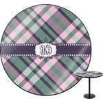 Plaid with Pop Round Table (Personalized)