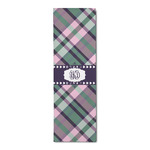 Plaid with Pop Runner Rug - 3.66'x8' (Personalized)