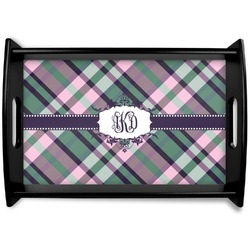 Plaid with Pop Wooden Trays (Personalized)