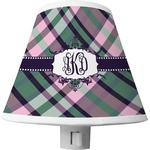 Plaid with Pop Shade Night Light (Personalized)