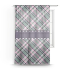"Plaid with Pop Sheer Curtain - 50""x84"" (Personalized)"