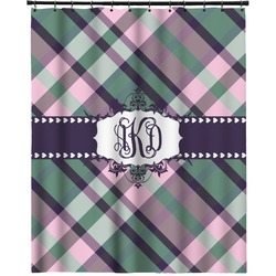 """Plaid with Pop Extra Long Shower Curtain - 70""""x84"""" (Personalized)"""