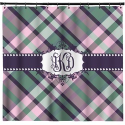 Plaid with Pop Shower Curtain (Personalized)