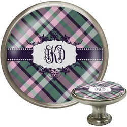Plaid with Pop Cabinet Knobs (Personalized)