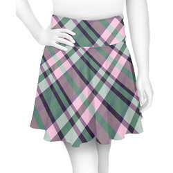 Plaid with Pop Skater Skirt (Personalized)