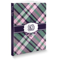 Plaid with Pop Softbound Notebook (Personalized)