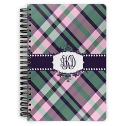 Plaid with Pop Spiral Bound Notebook (Personalized)