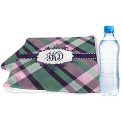 Plaid with Pop Sports Towel (Personalized)