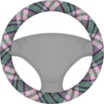 Plaid with Pop Steering Wheel Cover (Personalized)
