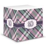 Plaid with Pop Sticky Note Cube (Personalized)