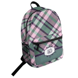 Plaid with Pop Student Backpack (Personalized)