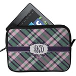Plaid with Pop Tablet Case / Sleeve (Personalized)