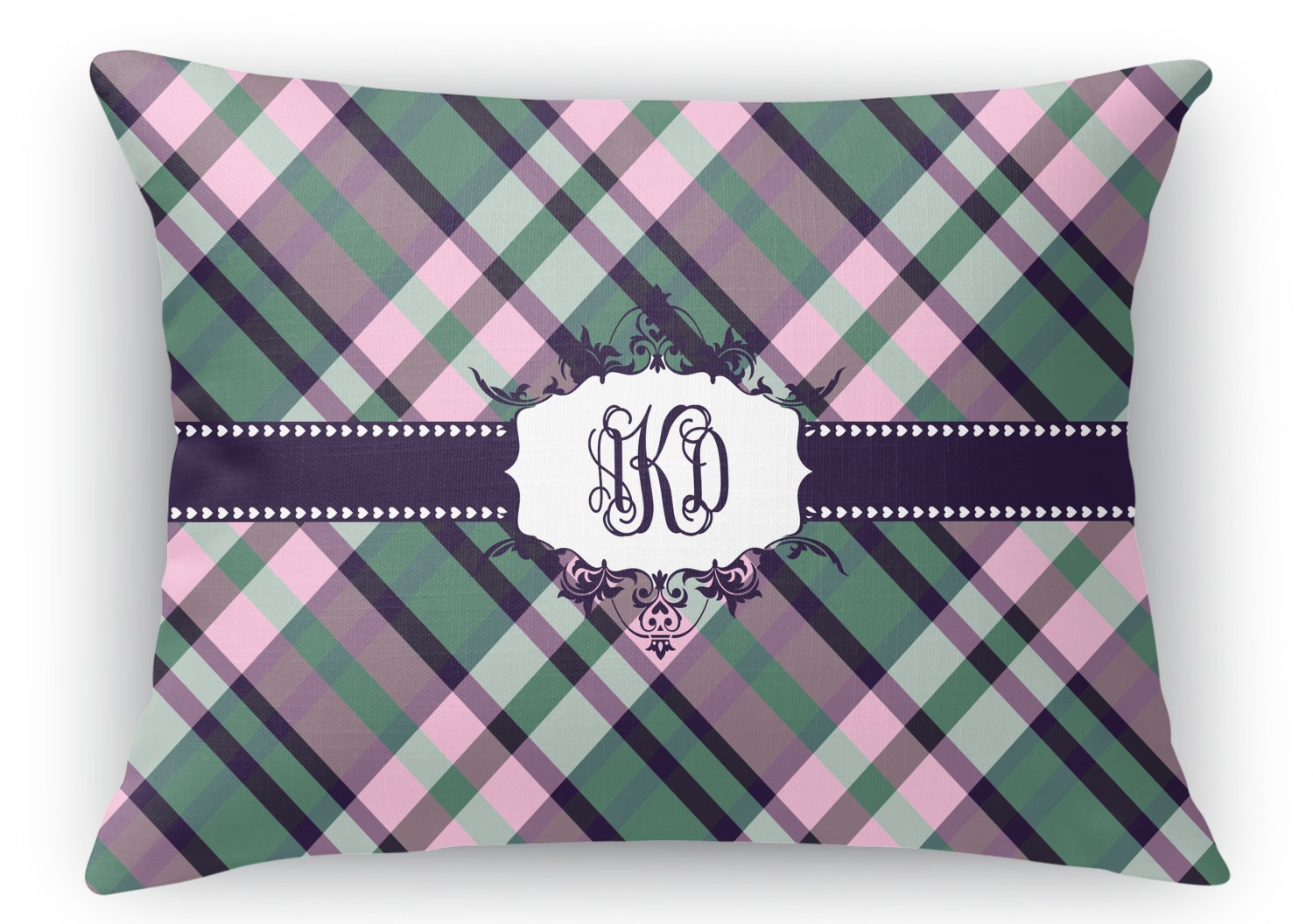 Rectangular Throw Pillow Dimensions : Plaid with Pop Rectangular Throw Pillow - 18